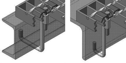 Крепление решетчатых настилов с помощью крюка